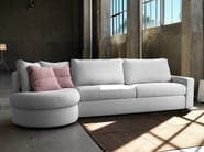 Convertible fabric sofa with removable cover LESLIE | Sectional sofa - Domingo Salotti