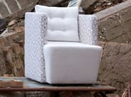 Upholstered fabric armchair with armrests ARTIBELLA | Armchair with armrests - Domingo Salotti