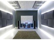 Foam decorative acoustical panels CINEMA ROUND PREMIUM - Vicoustic by Exhibo