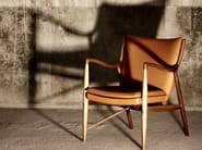 Upholstered leather chair with armrests 45 | Chair - Onecollection