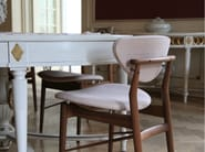 Upholstered leather chair with armrests 109   Chair - Onecollection