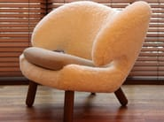 Upholstered fabric easy chair with armrests PELICAN | Easy chair - Onecollection
