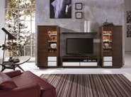 Wooden display cabinet LEONARDO | Display cabinet - SELVA