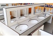 HPL washbasin countertop SERIE PLTOP K - GES Group