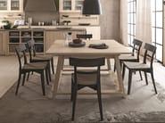 Square wooden table MAESTRALE | Square table - Scandola Mobili