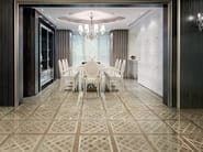 Glazed stoneware wall/floor tiles with wood effect MAXIWOOD LIVING Noce oro - Impronta Ceramiche by Italgraniti Group