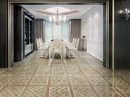 Glazed stoneware wall/floor tiles with wood effect MAXIWOOD LIVING Rovere bianco - Impronta Ceramiche by Italgraniti Group