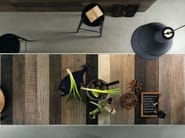 Full-body porcelain stoneware wall/floor tiles with wood effect SCRAPWOOD Fire - Italgraniti