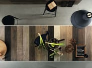 Full-body porcelain stoneware wall/floor tiles with wood effect SCRAPWOOD Coke - Italgraniti