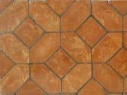 Quarry flooring PAVIMENTO IN LOSANGA ROSSA - FORNACE FONTI