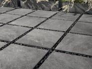 Full-body porcelain stoneware outdoor floor tiles with stone effect STONE MIX Quarzite Grey - Italgraniti