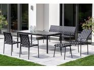 High-back garden chair with armrests NIZZA   High-back chair - FISCHER MÖBEL