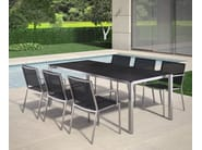Extending rectangular garden table MODENA | Extending table - FISCHER MÖBEL