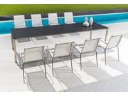 Extending rectangular garden table MODENA   Extending table - FISCHER MÖBEL