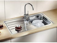 Single built-in stainless steel sink with drainer BLANCO MEDIAN 45 S-IF - Blanco