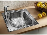 Single built-in stainless steel sink BLANCO TIPO 45 - Blanco