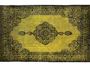Patterned rectangular cotton rug FUSION BLACK & GOLD - Mohebban