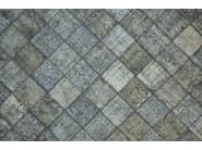 Patchwork rectangular cotton rug FUSION PATCH LIGHT GRAY & SILVER - Mohebban