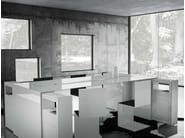 Rectangular office desk with shelves SUMMARUM - RECHTECK Felix Schwake