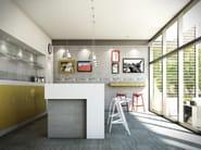 Porcelain stoneware flooring with concrete effect BETONAGE - Ceramica Rondine