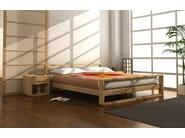 Wooden double bed LINEAR - Cinius