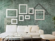Striped panoramic wallpaper TICKET - N.O.W. Edizioni