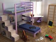Loft wooden bedroom set NIDO - Cinius