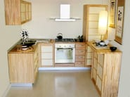 Custom wooden kitchen without handles Kitchen - Cinius