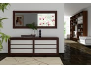 Lacquered wooden sideboard with sliding doors SHOJI | Sideboard - Cinius