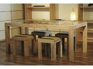Extending rectangular wooden table ZEN | Table - Cinius