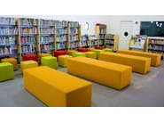 Backless QM Foam bench seating INFINITY STRAIGHT XL - Quinze & Milan