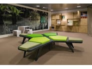 Backless bench seating AIRBENCH SMALL CROSS - Quinze & Milan