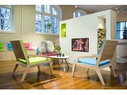 Wooden easy chair with armrests ROOM 26 SEAT 04 - Quinze & Milan