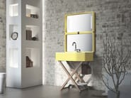 Washbasin with towel rail MY BAG - Olympia Ceramica