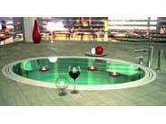 3 hole chrome-plated bathtub set with hand shower DIVA | Bathtub set - Daniel Rubinetterie