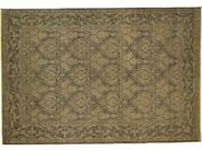 Patterned rectangular wool rug D101517 | Rug - Mohebban