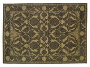 Patterned rectangular wool rug D151514 | Rug - Mohebban