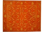 Patterned rectangular wool rug D152526 | Rug - Mohebban