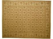 Patterned rectangular wool rug D111032 | Rug - Mohebban
