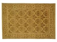 Patterned rectangular wool rug D103231 | Rug - Mohebban