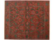 Patterned rectangular wool rug D154652   Rug - Mohebban