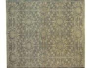 Patterned rectangular wool rug D181517 | Rug - Mohebban
