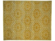 Patterned rectangular wool rug D186032 | Rug - Mohebban