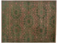 Patterned rectangular wool rug D188051 | Rug - Mohebban
