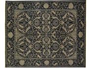 Patterned rectangular wool rug D159017 | Rug - Mohebban