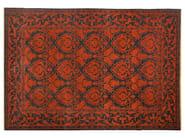 Patterned rectangular wool rug D109042 | Rug - Mohebban