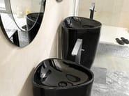 Floor standing bathtub mixer with flow limiter LOUNGE | Bathtub mixer with flow limiter - NOKEN DESIGN