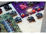 QM Foam leisure sofa SEATTLE CROSS 01 - Quinze & Milan