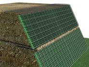 High resistance plastic vertical gardening trellis SISTEMA MUR - TENAX