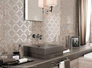 Travertino Silver Diagonal Mosaic